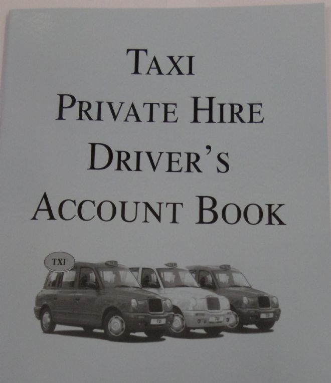 TAXI METER DRIVER ACCOUNT BOOK A4 LARGE CASH TAKINGS
